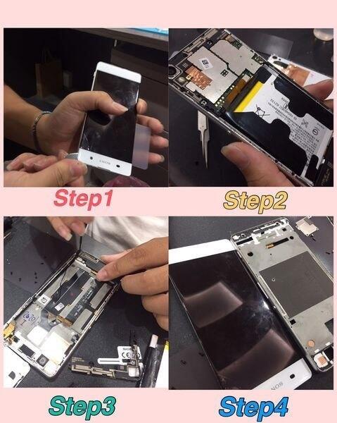 『黑盒子維修紀錄#11』SONY XA 手機螢幕維修 螢幕顯示功能不正常有白條